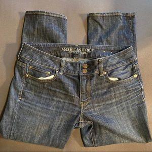 American Eagle Jeans Artist Crop Size 10